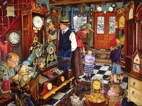 SunsOut Susan Brabeau - The Clock Shop palapeli 1000 palaa
