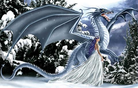 SunsOut Nene Thomas - Ice Dragon palapeli 1000 palaa