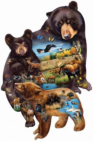 SunsOut Cynthie Fisher - Bear Family Adventure palapeli 1000 palaa
