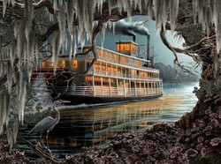 SunsOut Roberta Wesley - Night on the River palapeli 1000 palaa