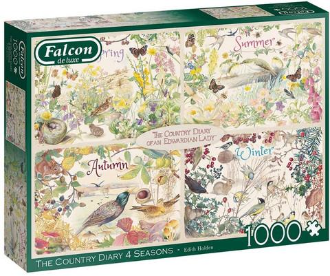 Falcon The Country Diary 4 seasons palapeli 1000palaa