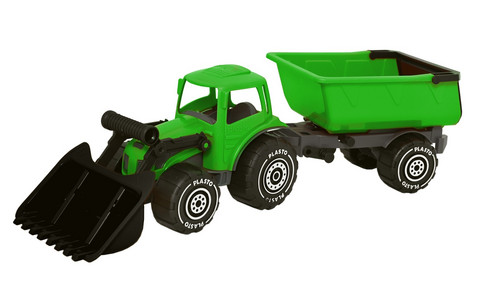 Plasto Kauhatraktori ja peräkärry vihreä