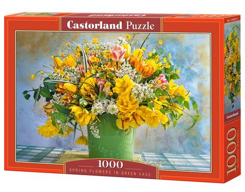 Castorland Spring Flowers in green vase palapeli 1000 palaa