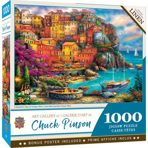 Master Pieces Chuck Pinson-A Beautiful Day at Cinque Terre palapeli