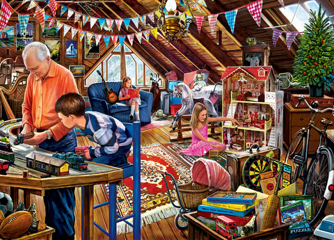 Master Pieces Playtime in the Attic palapeli 1000 palaa