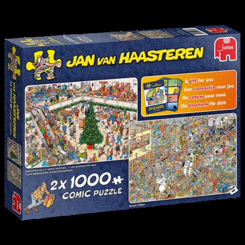 Jan Van Haasteren Christmas Mall & Black Friday palapeli 2x1000 palaa