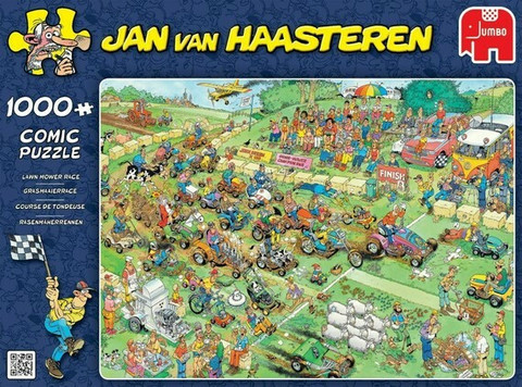 Jan van Haasteren, Lawn Mower Race- palapeli, 1000 palaa