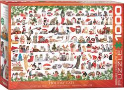 Eurographics Holiday Cats palapeli 1000 palaa