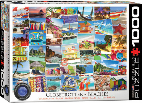 Eurographics Globetrotter Beaches palapeli 1000 palaa