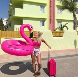 Flamingo uimapatja, pinkki