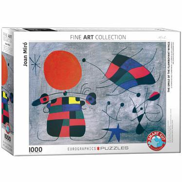 Eurographics Smile of the Flamboyant Wings by Joan Miro-palapeli