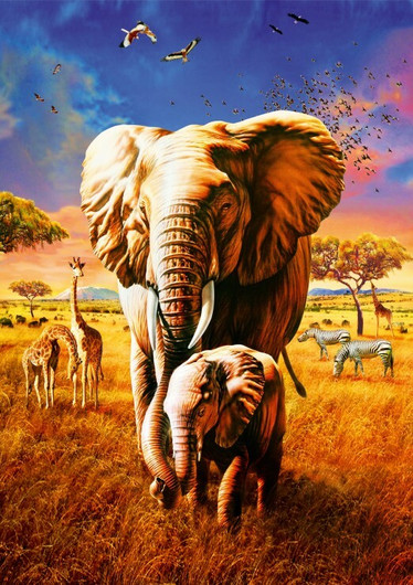 Bluebird Elephant-palapeli