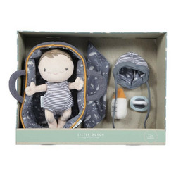 Little Dutch Jim -vauvanukke ja kantokassi