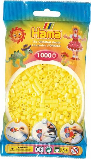 Hama pussi 1000 pastellin keltainen