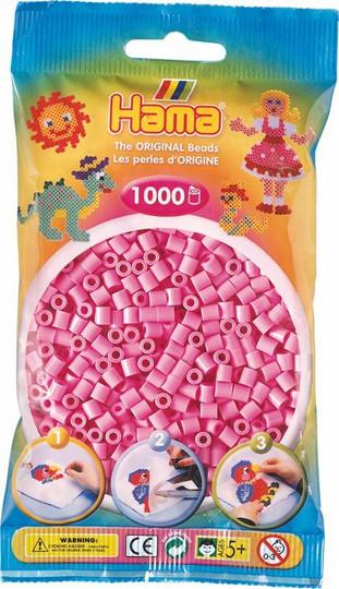 Hama pussi 1000 pastellin pinkki
