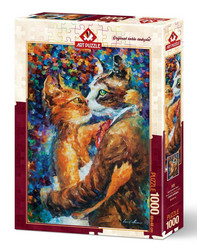 Art Puzzle Dance of the Cats in Love palapeli