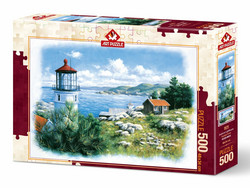 Art Puzzle Lantern on the Shore