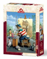 Art Puzzle Painter Cat palapeli