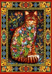 Bluebird Tapestry Cat palapeli