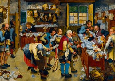 Bluebird P.Bruegel the Younger The Tax-collector´s Office palapeli