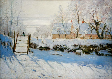 Bluebird Claude Monet-The Magpie palapeli