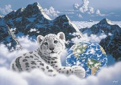 Grafika Schim Schimmel Bed of Clouds palapeli