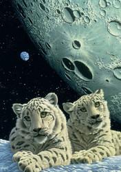 Grafika Schim Schimmel Lair of the Snow Leopard palapeli