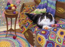 Cobble Hill Comfy Cat palapeli