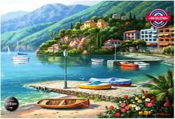 Anatolian Hillside Harbor Cove palapeli