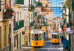 Castorland Lissabon Trams Portugal palapeli 1000 palaa