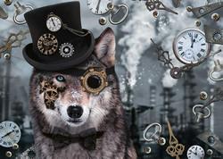 Schmidt Markus Binz Steampunk Wolf palapeli