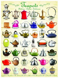Eurographics Teapots palapeli 1000 palaa