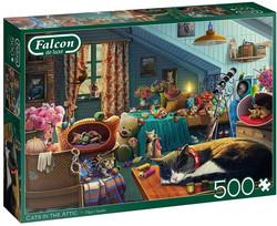 Falcon Cats in the Attic palapeli 500 palaa