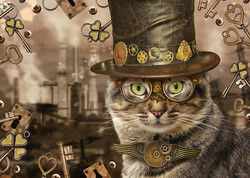 Schmidt Markus Binz - Steampunk Cat palapeli 1000 palaa