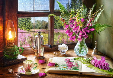 Castorland Still life with violet snapdragons palapeli 1000 palaa