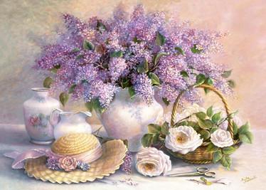 Castorland Flower Day Trisha Hardwick palapeli 1000 palaa