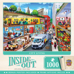Master Pieces Inside Out - City Living palapeli 1000 palaa