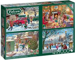 Falcon Victor McLindon Family Time at Christmas palapeli  4x1000 palaa