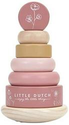Little Dutch Kukka pinkki palikkatorni