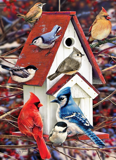 Cobble Hill Greg Giordano - Winter Birdhouse palapeli 1000 palaa