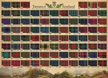 Cobble Hills Tartans of Scotland palapeli 1000 palaa