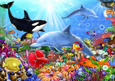 Bluebird Bright Undersea World palapeli 1500 palaa