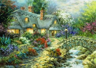 Bluebird Country Cottage palapeli 1000 palaa