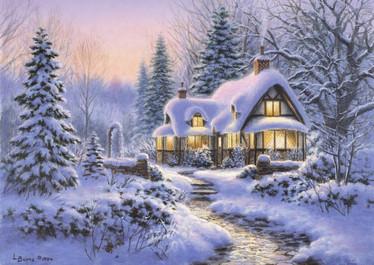 Bluebird Winter's Blanket Wouldbie Cottage palapeli 500 palaa