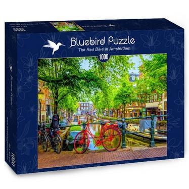 Bluebird The Red Bike in Amsterdam - palapeli 1000 palaa