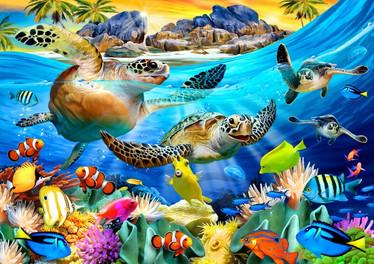 Bluebird Turtle Beach - palapeli 1000 palaa