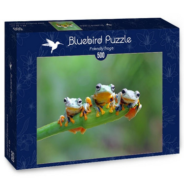 Bluebird Friendly Frogs -palapeli 500 palaa