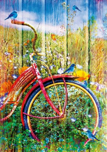Bluebirds on a Bicycle - palapeli 1000 palaa
