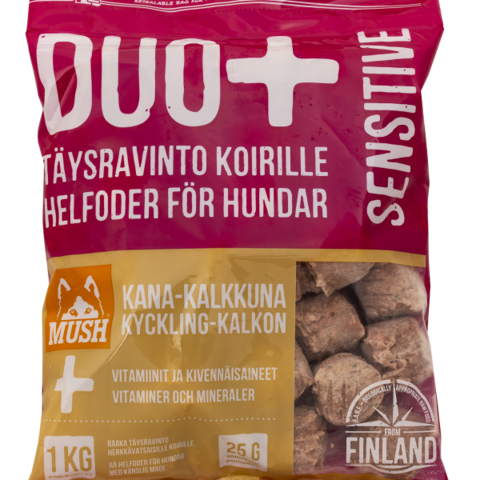 MUSH DUO+ Sensitive KALKKUNA-KANA 1 kg