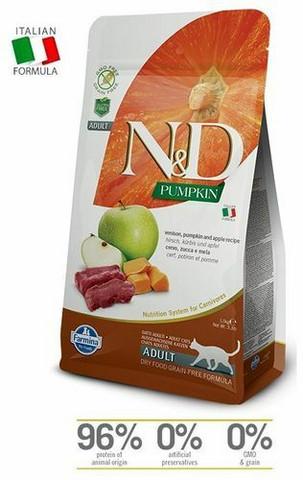 N&D Cat Adult Venison-Pumpkin 1,5 kg